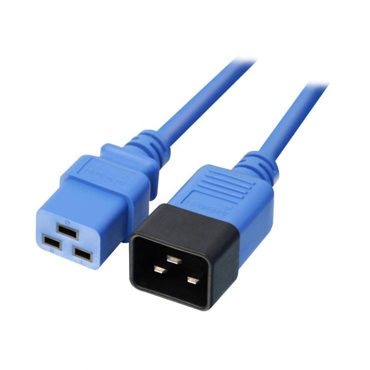 Imagine Cablu de alimentare IEC C19 la C20 1m Albastru, Lindy L30120-2