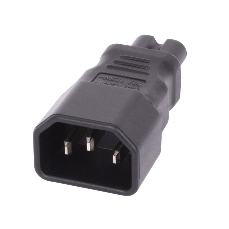 Imagine Adaptor IEC C7 2 pini casetofon IEC C14 3 pini M-T, Lindy L30452-1