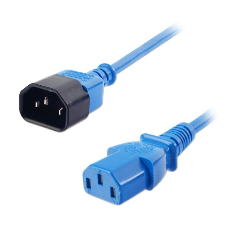 Imagine Cablu prelungitor alimentare IEC C13 - C14 0.5m Bleu, Lindy L30470-2