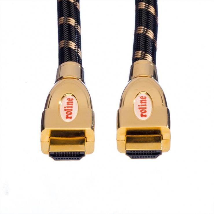 Imagine Cablu HDMI 4K GOLD Ultra HD Cable + Ethernet 1.5m, Roline 11.04.5694-1