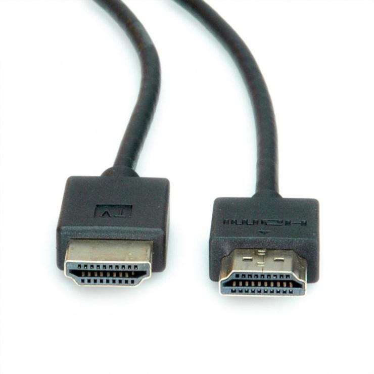 Imagine Cablu HDMI Ultra HD (UHD-1) activ T-T Negru 2m, Roline 11.04.5912-2