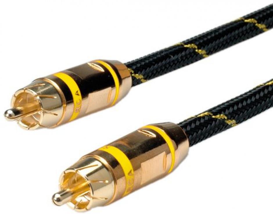 Imagine Cablu GOLD audio RCA simplex Galben T-T 2.5m, Roline 11.09.4233