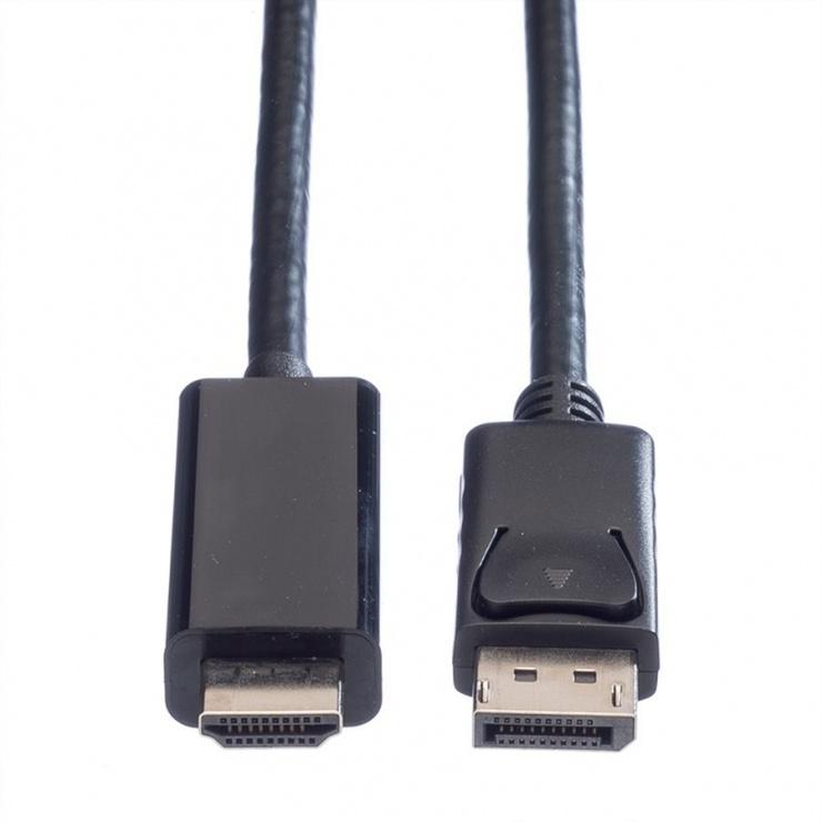 Imagine Cablu Displayport la HDMI UHD 4K T-T 5m Negru, Value 11.99.5788-1