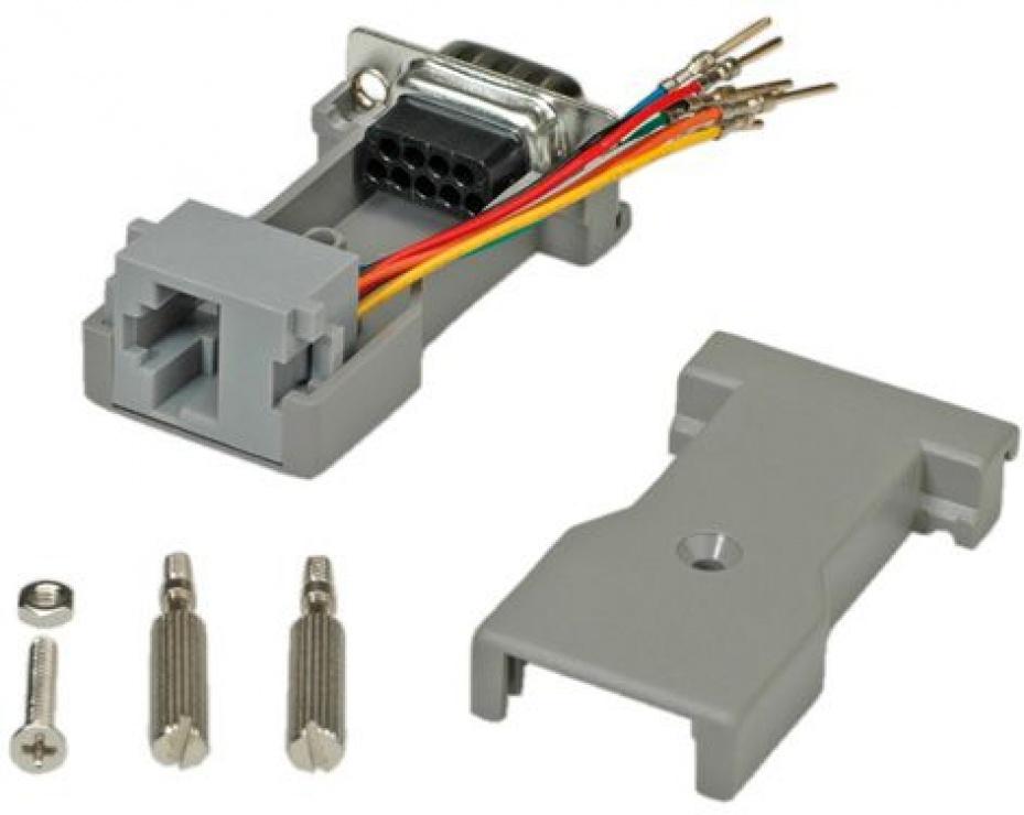 Imagine Adaptor serial DB9 la RJ45, Roline 12.03.7525