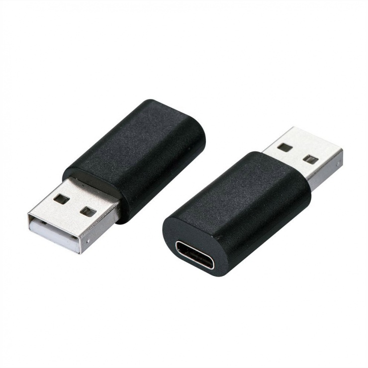 Imagine Adaptor USB 2.0 tip A la USB-C T-M Negru, Value 12.99.2995-1