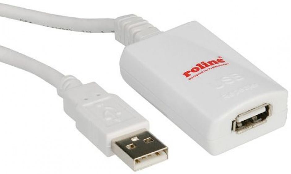 Imagine Cablu prelungitor USB 2.0 activ T-M 5m, Roline 12.04.1088