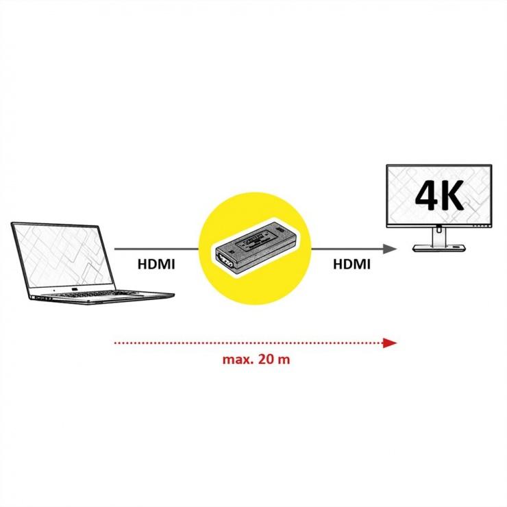 Imagine Repeater HDMI 4K@60Hz, Value 14.99.3459-1
