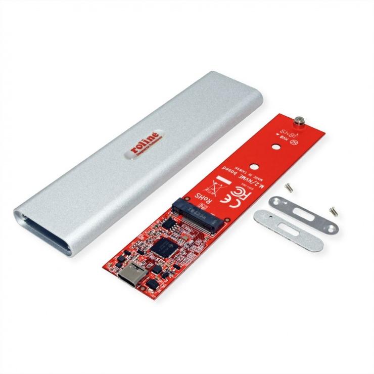 Imagine Rack extern USB 3.1-C pentru SSD M.2 NVME, Roline 16.01.4146-1