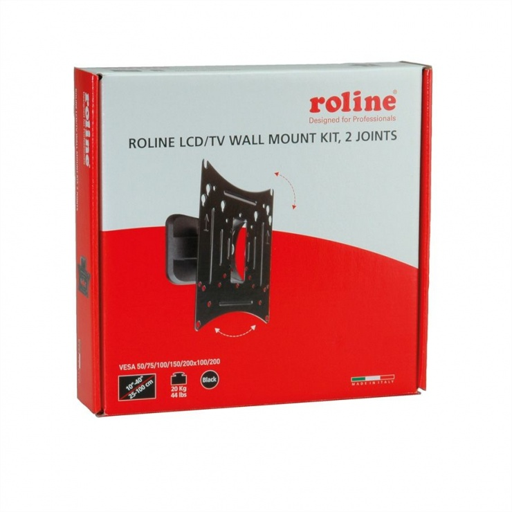 "Imagine Suport monitor LCD 10""- 40"" perete 2 brate, Roline 17.03.0005"