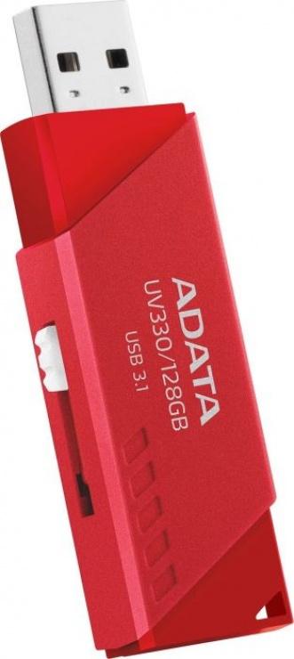 Imagine Stick USB 3.1 UV330 64GB Rosu, A-DATA AUV330-64G-RRD