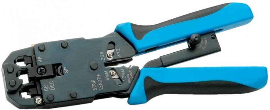 Imagine Cleste Sertizare/dezozolare/taiere Profesional RJ45/14/12/11, Value 19.06.1048