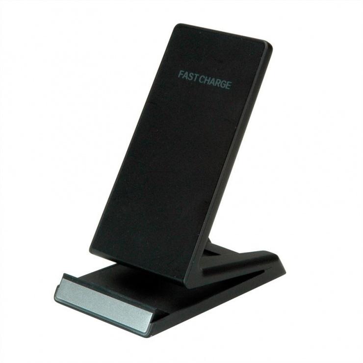 Imagine Stand smartphone cu incarcare wireless Fast Charge 10 W, Roline 19.11.1010