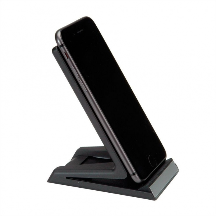 Imagine Stand smartphone cu incarcare wireless Fast Charge 10 W, Roline 19.11.1010-3