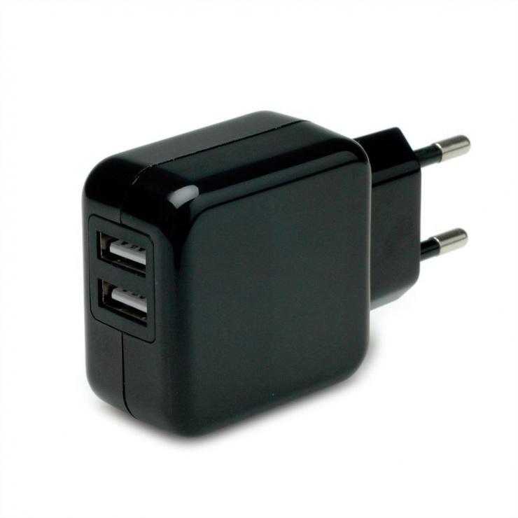 Imagine Incarcator priza cu 2 x USB 10W/2A, Value 19.99.1064