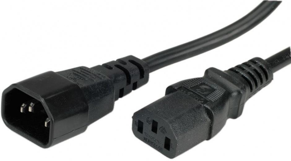 Imagine Cablu prelungitor de alimentare MYCON C13 - C14 1.8m Negru, CON2306