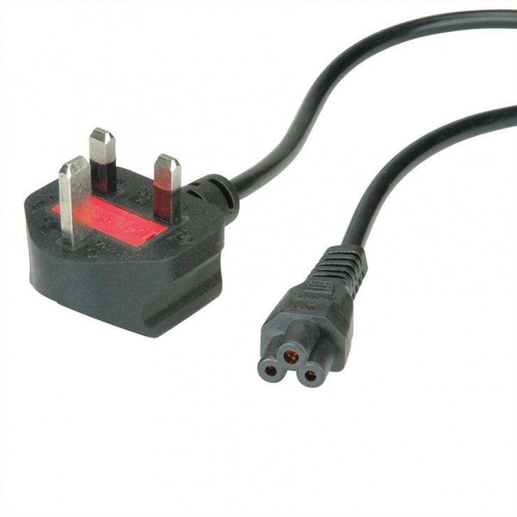 Imagine Cablu de alimentare UK la C5 Mickey Mouse 2.5A 1.8m Negru, Value 19.99.2016