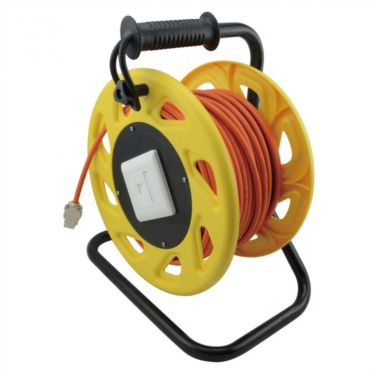 Imagine Rola cablu de retea Cat.6A S/FTP 60m, Roline 21.15.0007