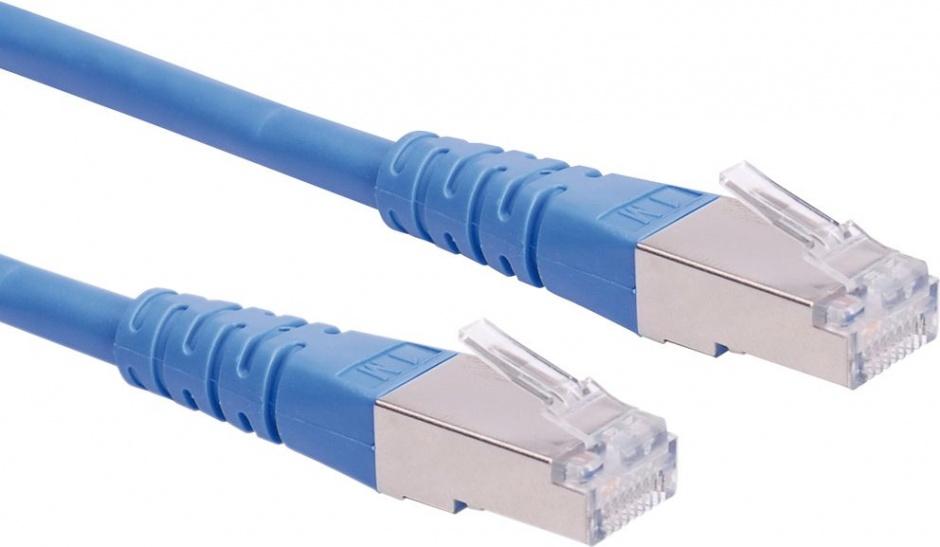Imagine Cablu retea SFTP cat.6  Albastru 0.3m, Roline 21.15.1314