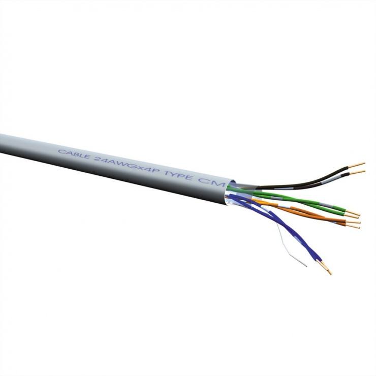 Imagine Cablu retea UTP Cat.6 solid AWG24 300m, Value 21.99.0995