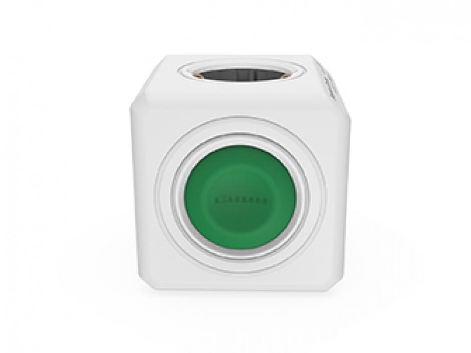 Imagine Prelungitor in forma de cub PowerCube Switch Original 4 prize cu switch, Allocacoc