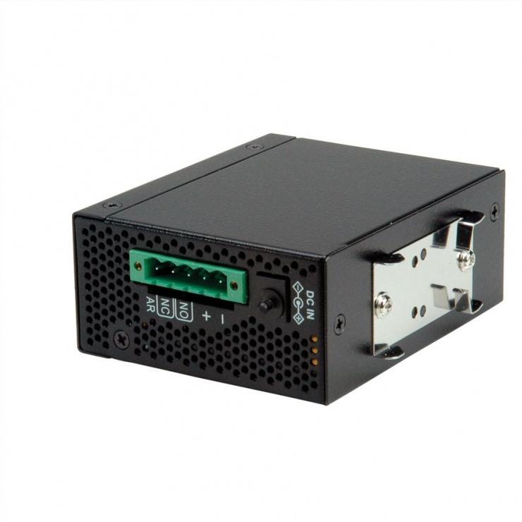 Imagine Convertor industrial Ethernet/SFP Slot la serial RS232, Roline 21.13.1138-1