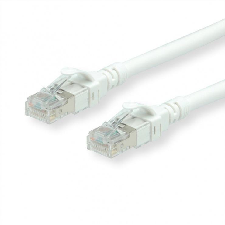 Imagine Cablu de retea SFTP cat 6A 1.5m Component Level LSOH alb, Roline 21.15.1996