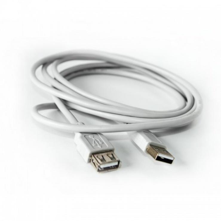 Imagine Cablu prelungitor USB 2.0 T-M Gri 5m, KTCBLHE140295M