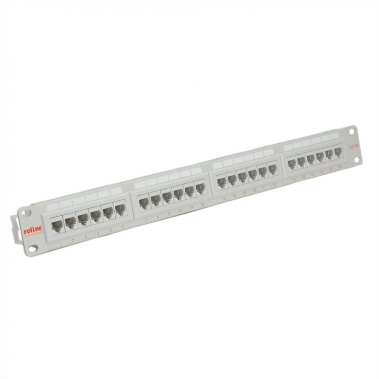 Imagine Patch Panel UTP Cat.5e, 24 porturi, gri, Roline 26.11.0347
