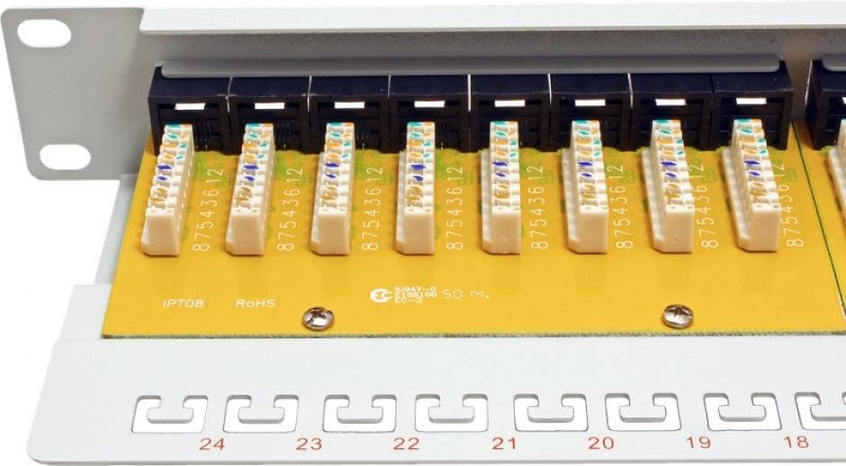 Imagine Patch Panel UTP Cat.6, 24 porturi, gri, Roline 26.11.0355-2