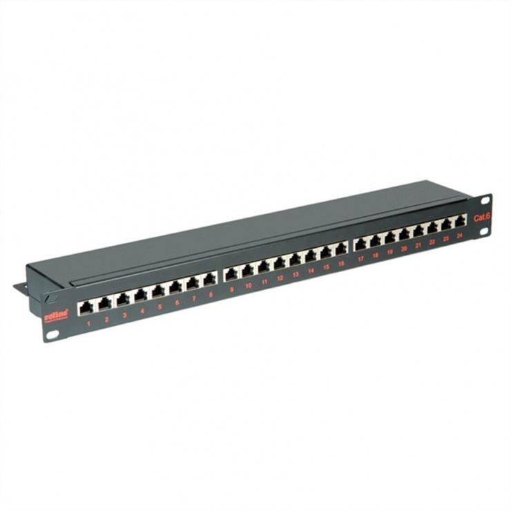 Imagine Patch Panel FTP Cat.6, 24 porturi, negru, Roline 26.11.0361-1