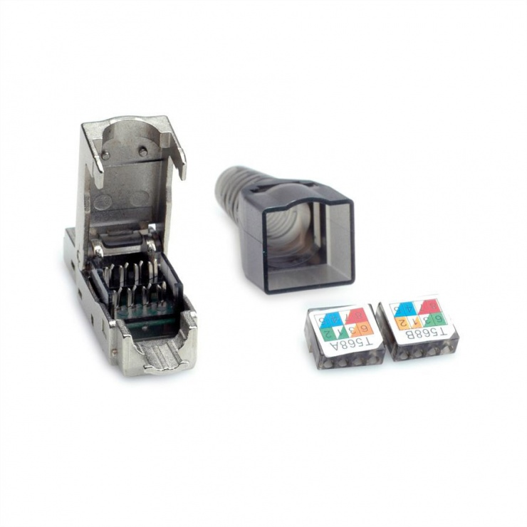 Imagine Conector de retea RJ45 cat 6A STP pentru fir solid AWG 23-26, Value 26.99.0373