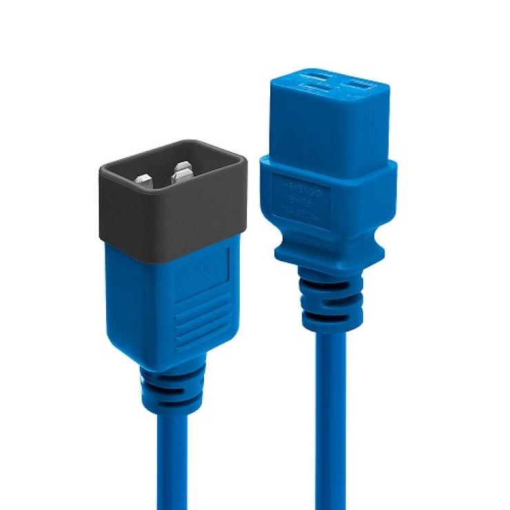Imagine Cablu de alimentare IEC C19 la C20 3m Albastru, Lindy L30122