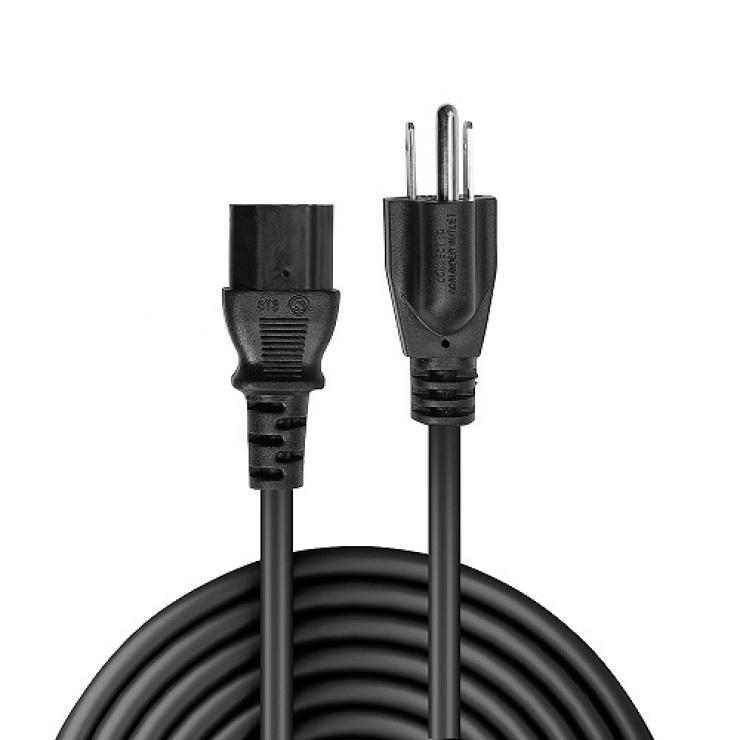 Imagine Cablu de alimentare C13 la US 3 pini 2m, Lindy L30338-1