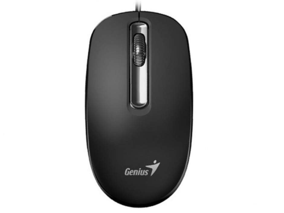 Imagine Mouse optic USB ambidextru Negru DX-130, Genius