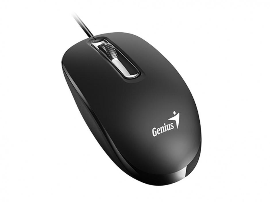 Imagine Mouse optic USB ambidextru Negru DX-130, Genius - 1