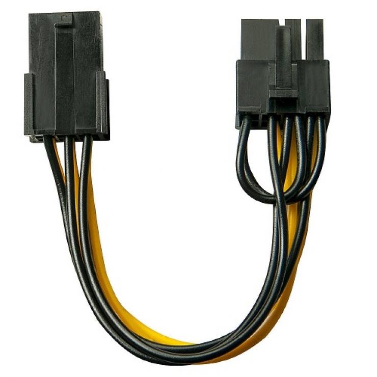 Imagine Cablu PCI Express 6 pini la 8 pini 0.15m, Lindy L33858