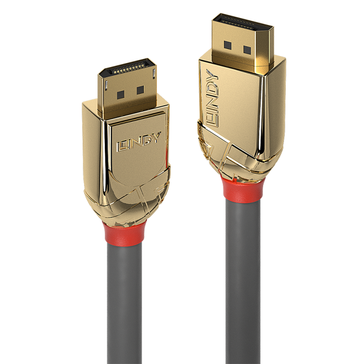 Imagine Cablu Displayport 4K30Hz UHD (DP certificat) v1.2 T-T 15m Gold Line, Lindy L36297