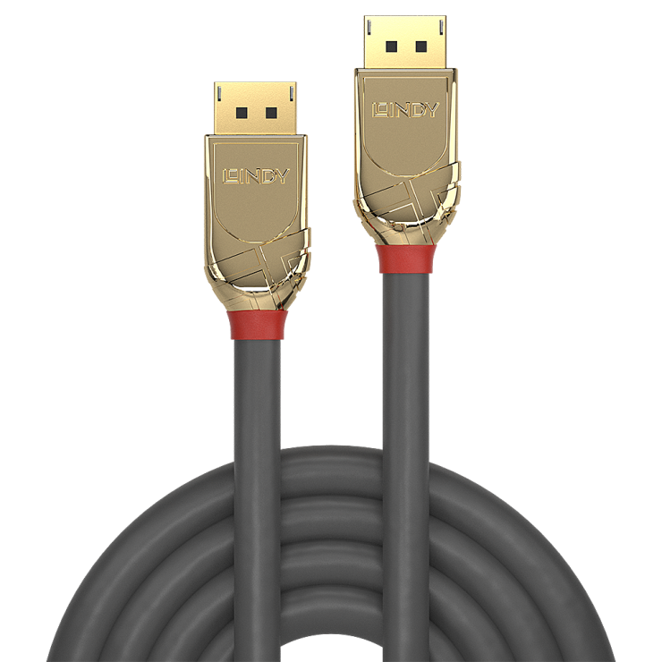 Imagine Cablu Displayport 4K UHD (DP certificat) v1.2 T-T 20m Gold Line, Lindy L36298-1