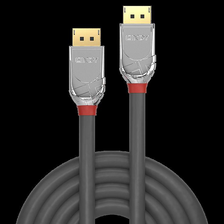 Imagine Cablu DisplayPort 4K@60Hz T-T v1.2 Cromo Line 5m, Lindy L36304-1