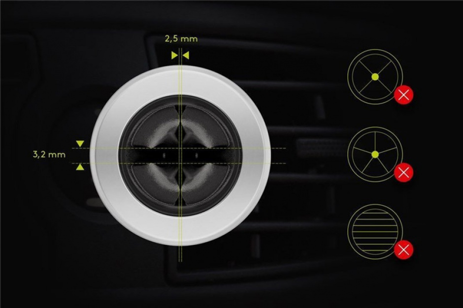 Imagine Suport magnetic auto Slim metalic pentru smartphone (35mm), Goobay 38685-10