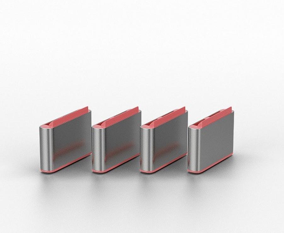 Imagine Set 4 bucati Port Blocker USB tip C + cheie Roz, Lindy L40425-1