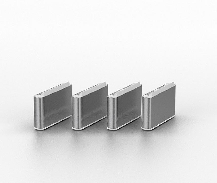 Imagine Set 10 bucati Port Blocker USB-C/Thunderbolt 3 Alb, Lindy L40439-1