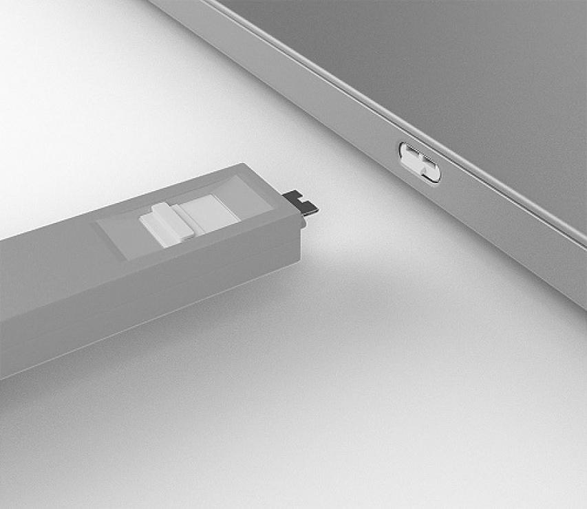 Imagine Set 4 bucati Port Blocker USB tip C/Thunderbolt 3 + cheie Alb, Lindy L40427-3