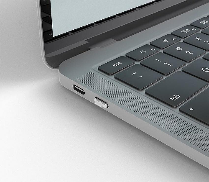 Imagine Set 4 bucati Port Blocker USB tip C/Thunderbolt 3 + cheie Alb, Lindy L40427-4
