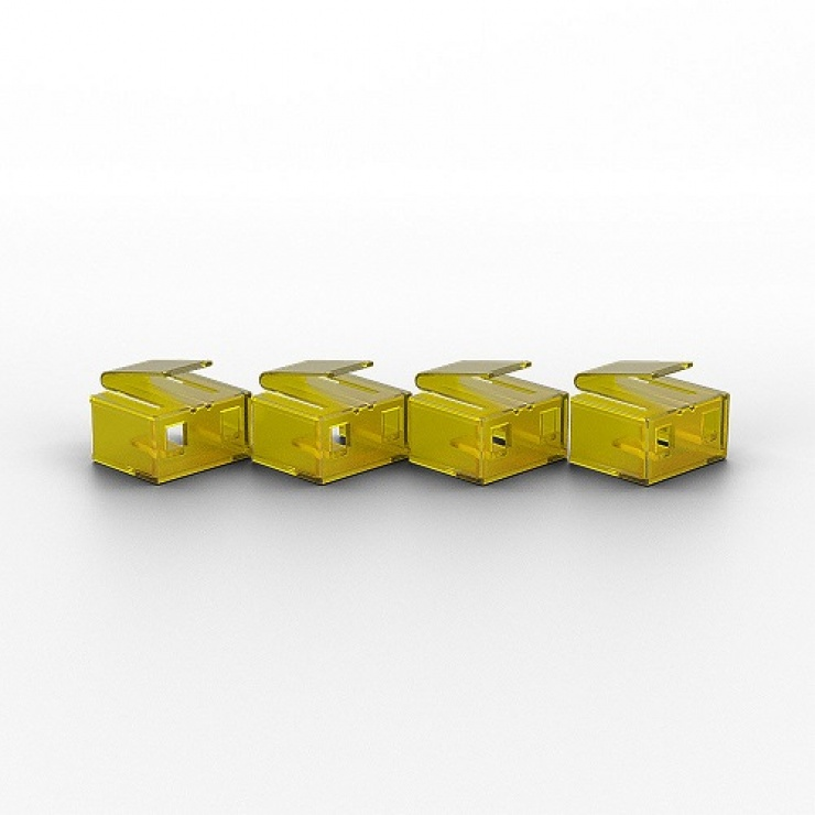 Imagine Set 10 x blocatoare RJ45 cu cheie Galben, Lindy L40482-1