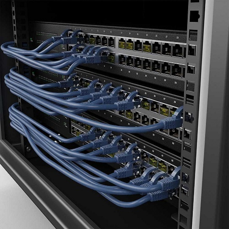 Imagine Set 10 x blocatoare RJ45 cu cheie Galben, Lindy L40482-4