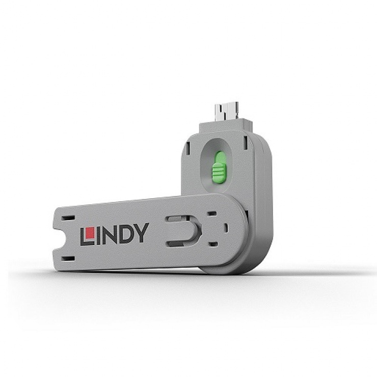 Imagine Cheie pentru blocarea portului USB-A (L40461 & L40451) Verde, Lindy L40621