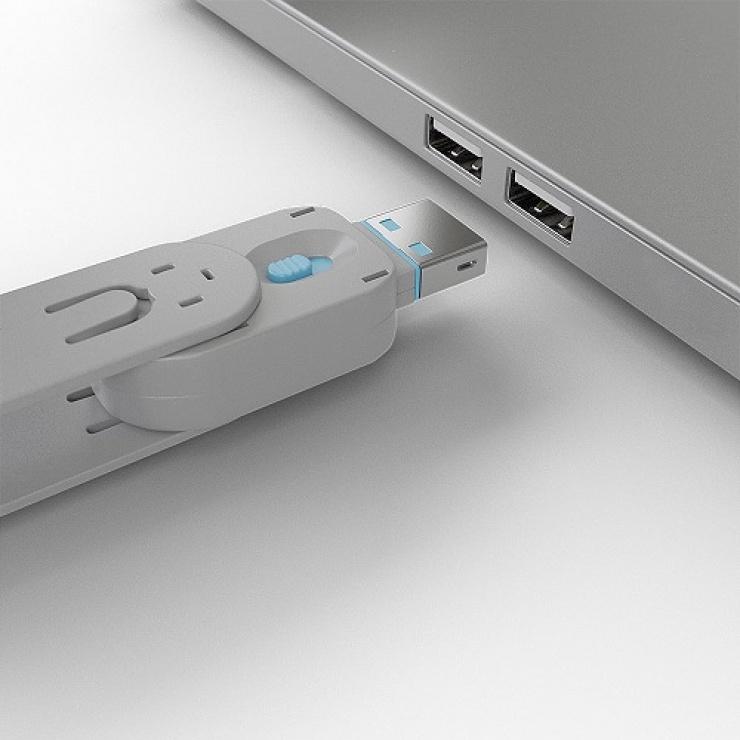 Imagine Cheie pentru blocarea portului USB-A (L40462 & L40452) Bleu, Lindy L40622-2