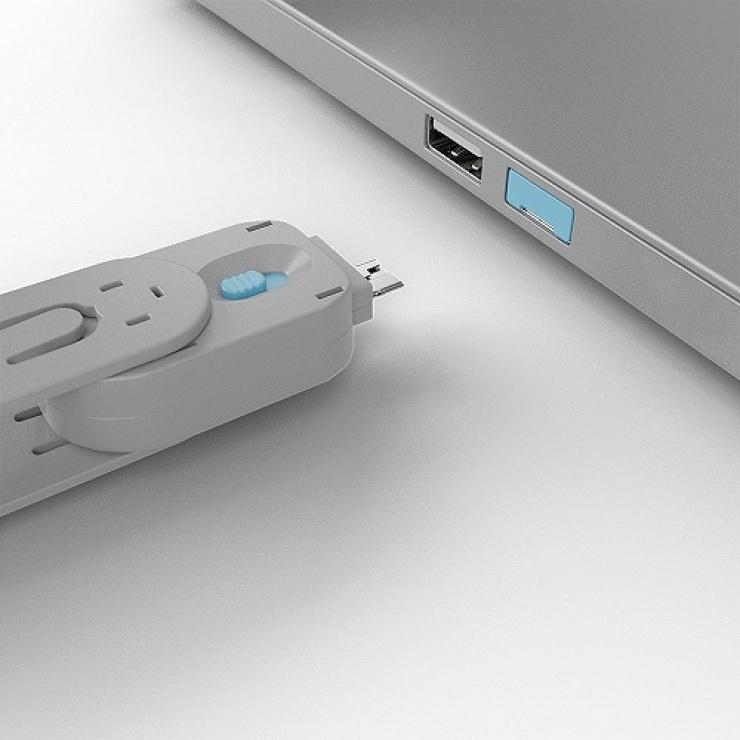 Imagine Cheie pentru blocarea portului USB-A (L40462 & L40452) Bleu, Lindy L40622-3