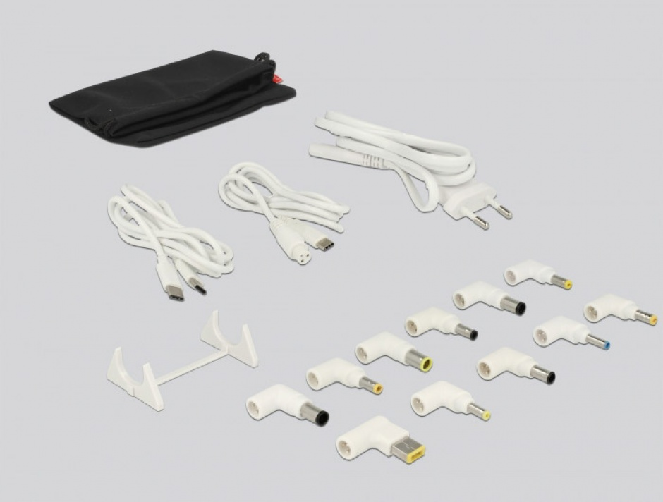 Imagine Incarcator priza la 1 x USB-C PD 85 W + 3 x USB-A Qualcomm Quick Charge 3.0 Alb, Delock 41432-3